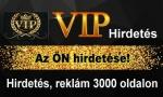VIP. Turbózza fel cégét, vállalkozását. Hirdetés, reklám 3.000 oldalon.